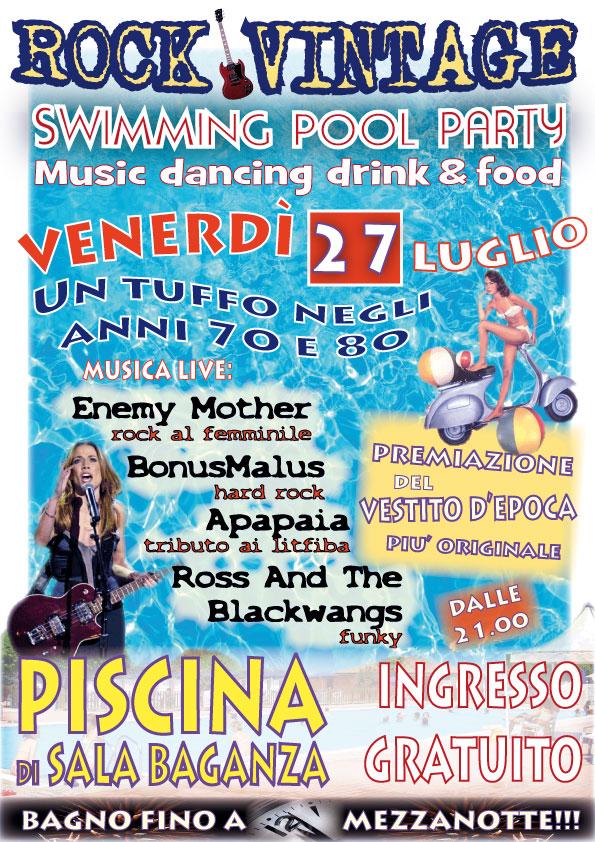 Festa rock vintage alla piscina di sala baganza - Piscina sala baganza ...