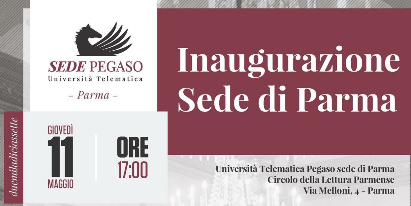 L'Università telematica Pegaso inaugura la sede di Parma