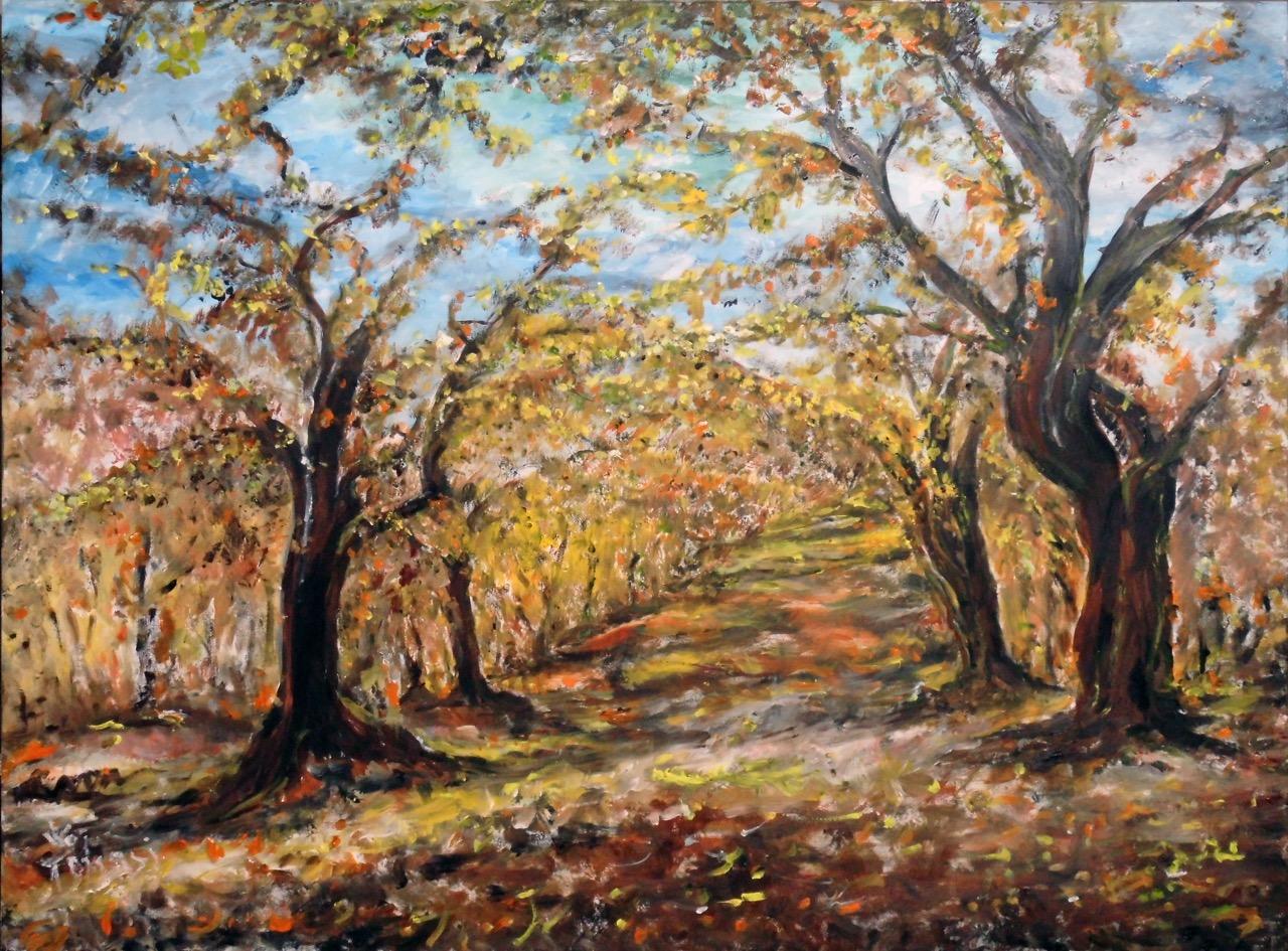 Il bosco incantato - dipinto di Welleda Tomasi Cantù in esposizione ad Art  Capital 2018 -